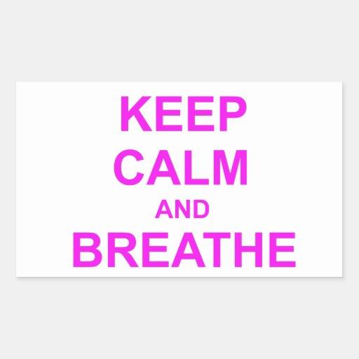 Guarde la calma y respire el naranja rosado rojo rectangular altavoz