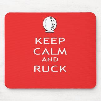 Guarde la calma y Ruck Alfombrilla De Raton