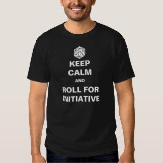 Guarde la calma y ruede para la iniciativa poleras