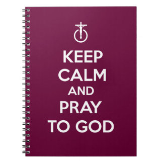Guarde la calma y ruegue a dios libro de apuntes