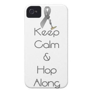 Guarde la calma y salte adelante Case-Mate iPhone 4 cobertura