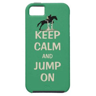 Guarde la calma y salte en caballo funda para iPhone 5 tough
