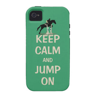 Guarde la calma y salte en el caso del iPhone 4 4S iPhone 4/4S Carcasas