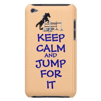 Guarde la calma y salte para ella iPod Case-Mate carcasas