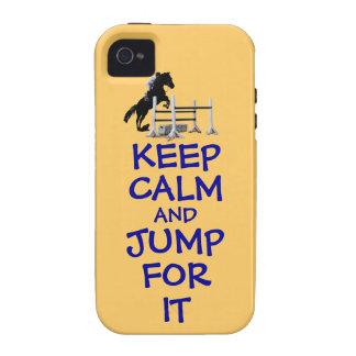 Guarde la calma y salte para ella iPhone 4/4S carcasa