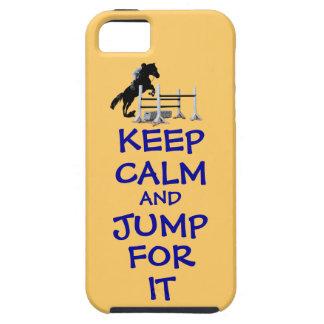 Guarde la calma y salte para ella iPhone 5 cobertura