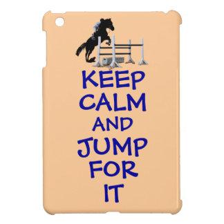 Guarde la calma y salte para ella iPad mini cobertura