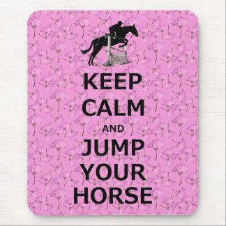Guarde la calma y salte su caballo alfombrillas de raton