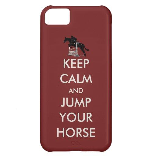 Guarde la calma y salte su caso del iPhone 5 del c
