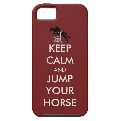 Guarde la calma y salte su caso del iPhone 5 del c iPhone 5 Case-Mate Carcasas