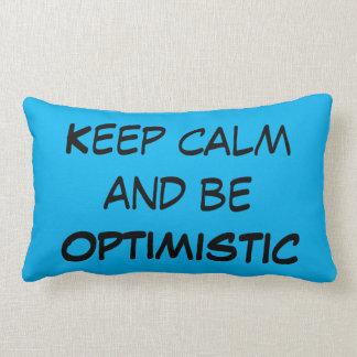 Guarde la calma y sea almohada lumbar OPTIMISTA Cojín Lumbar