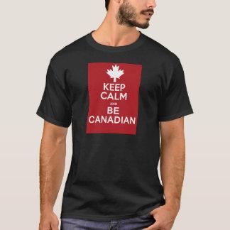 Guarde la calma y sea canadiense playera