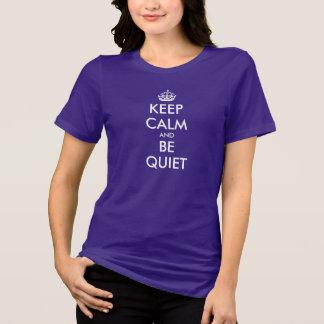 Guarde la calma y sea cita reservada de la camisas