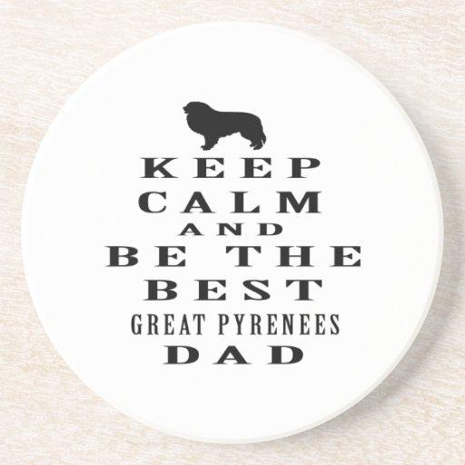Guarde la calma y sea el mejor papá de los grandes posavasos cerveza