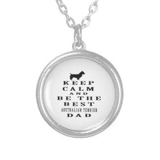 Guarde la calma y sea el mejor papá de Terrier aus Pendientes Personalizados