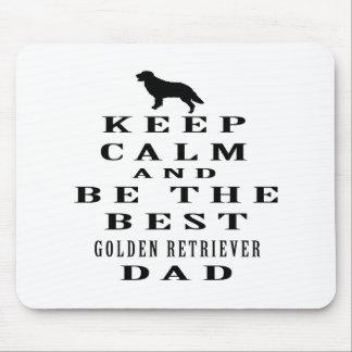 Guarde la calma y sea el mejor papá del golden ret tapetes de ratones