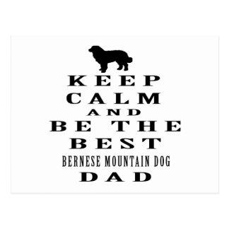 Guarde la calma y sea el mejor papá del perro de postal