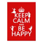 Guarde la calma y sea feliz (danza) (el invitación personalizada