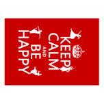 Guarde la calma y sea feliz (danza) (el personaliz tarjeta de visita