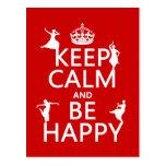 Guarde la calma y sea feliz (danza) (el personaliz postal