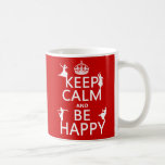 Guarde la calma y sea feliz (danza) (el personaliz taza de café