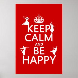 Guarde la calma y sea feliz (danza) (el póster