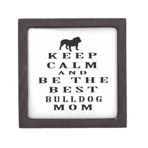 Guarde la calma y sea la mejor mamá del dogo caja de joyas de calidad