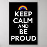 Guarde la calma y sea orgulloso impresiones