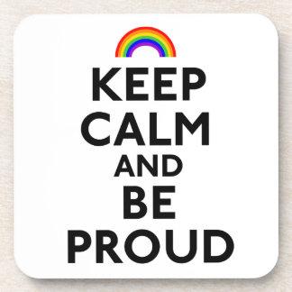 Guarde la calma y sea orgulloso posavasos