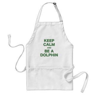Guarde la calma y sea un delfín delantal