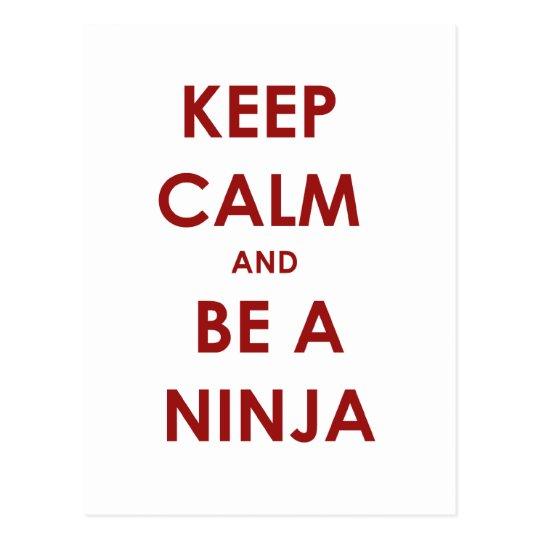 Guarde la calma y sea un Ninja Postal