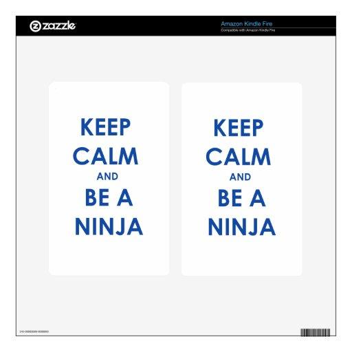 ¡Guarde la calma y sea un Ninja! Skin Para Kindle Fire