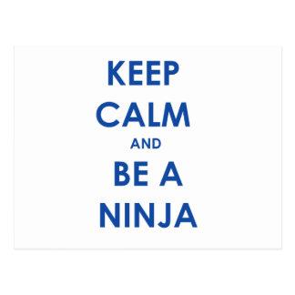 ¡Guarde la calma y sea un Ninja! Postales