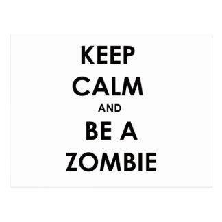 ¡Guarde la calma y sea un zombi! Postales