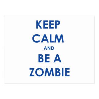 Guarde la calma y sea un zombi postal