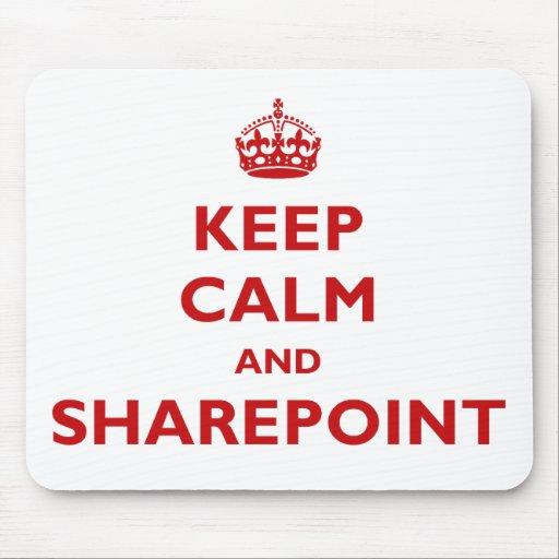 Guarde la calma y SharePoint - Mousepad Alfombrillas De Raton
