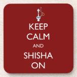 Guarde la calma y Shisha encendido Posavasos