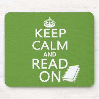 Guarde la calma y siga leyendo alfombrillas de ratones