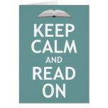 Guarde la calma y siga leyendo felicitación