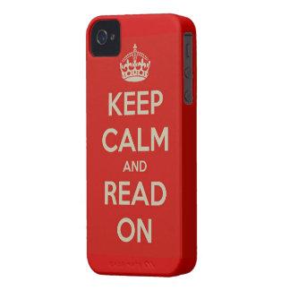 Guarde la calma y siga leyendo iPhone 4 Case-Mate cobertura