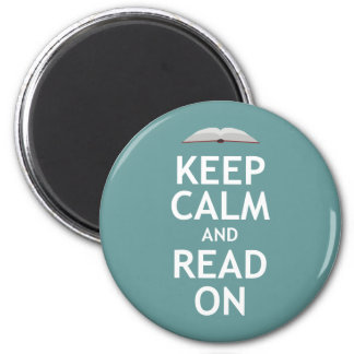 Guarde la calma y siga leyendo imán redondo 5 cm