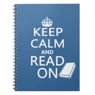 Guarde la calma y siga leyendo libretas