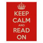 Guarde la calma y siga leyendo plantilla de membrete