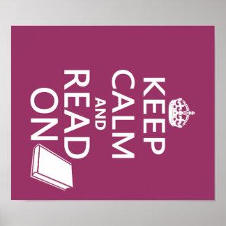 Guarde la calma y siga leyendo poster