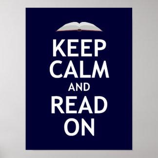 Guarde la calma y siga leyendo impresiones