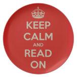 Guarde la calma y siga leyendo platos para fiestas