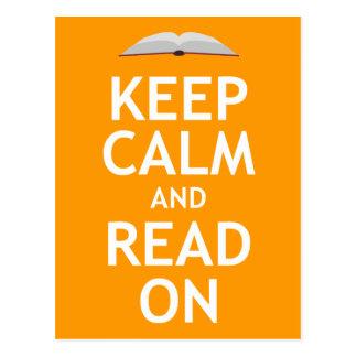 Guarde la calma y siga leyendo postal