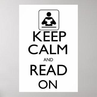 Guarde la calma y siga leyendo póster