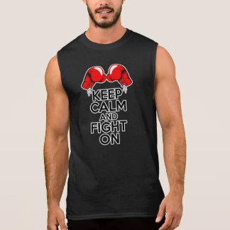 Guarde la calma y siga luchando camiseta sin mangas