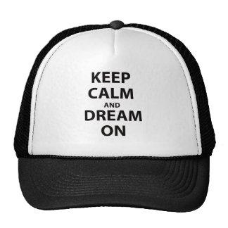 Guarde la calma y soñe encendido gorro de camionero